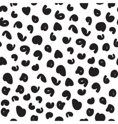 Hand-painted seamless pattern with cheetah vector