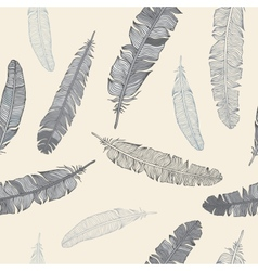 Feather seamless background vector image