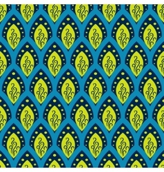 Abstract fish scale blue pattern in oriental style vector image vector image