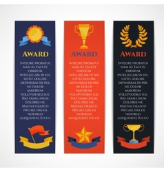 Award banner set vector