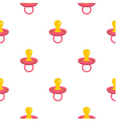 Baby pacifier pattern flat vector