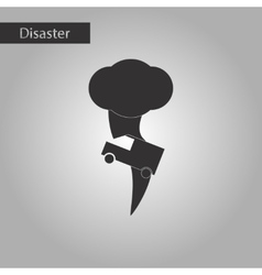 black and white style icon tornado car vector image