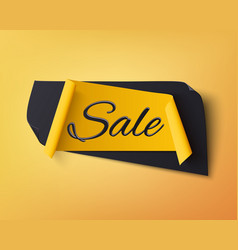 black and yellow abstract sale banner vector image vector image