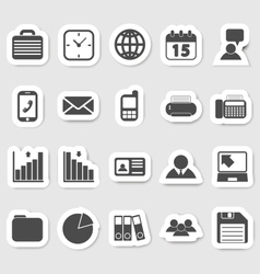 Business and office icons stikers vector