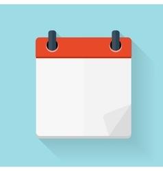 Calendar Flat Daily Icon Template vector image vector image