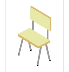 Chair in isometric projection vector