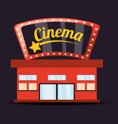 cinema with watch movie entertainment vector image vector image