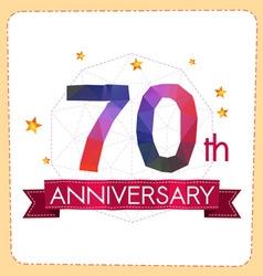 Colorful polygonal anniversary logo 2 070 vector