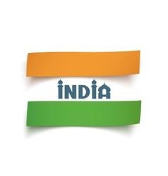 Conceptual abstract indian flag vector