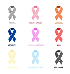 Disease Awareness Ribbon 01 A vector image
