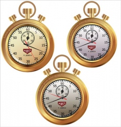 golden stopwatch vector image