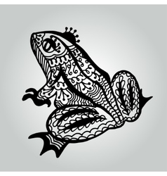 Handdrawing doodle frog wildlife collection vector