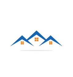 house realty construction logo image vector image vector image