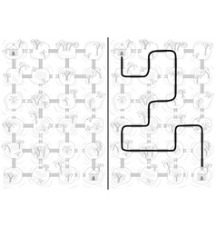 Islands maze vector image vector image