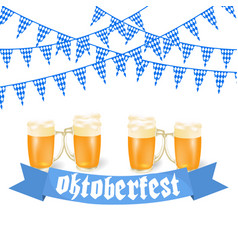 oktoberfest banners in bavarian color feast of vector image