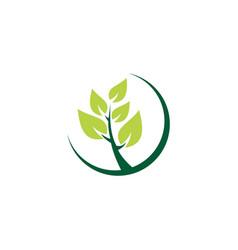 plant green ecology leaf logo vector image vector image