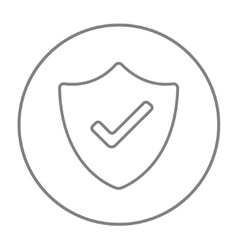 Quality is confirmed line icon vector image vector image