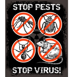 Sketch pest control insect poster vector