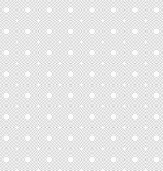 Slim gray striped octagons vector image