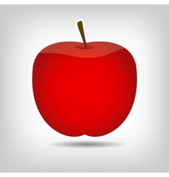 Sweet tasty apple vector