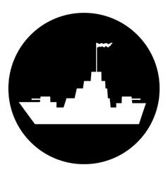 Warship button vector
