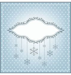 Winter background with ornamental place for your t vector image