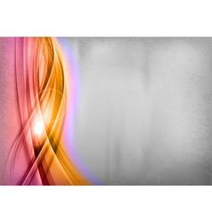 background red orange wave grey vertical vector image