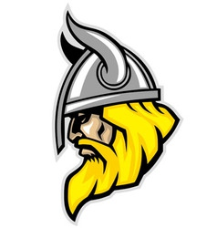 Viking head mascot vector