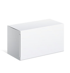 White package carton box for software vector