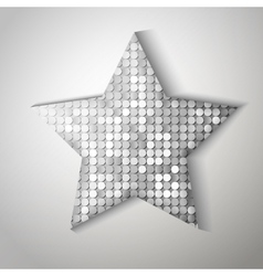 Shiny sequins star Eps 10 vector image