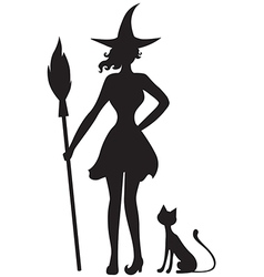 Witch cat vector