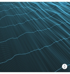 Abstract grid background water surface vector