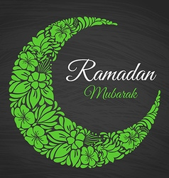 Ramadan mubarak islamic greeting background vector