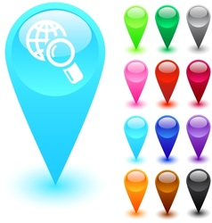 Global search button vector image