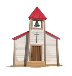 Old catholic church with bell tower vector