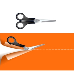 Pair of scissors vector