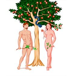 Adam and Eve vector image