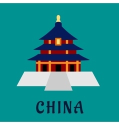 Ancient chinese Temple of Heaven vector image vector image