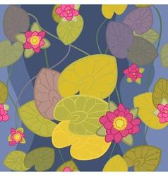 Beautiful flower pink lotus vector