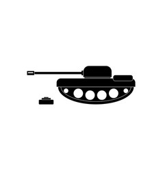Black icon on white background military tank and vector