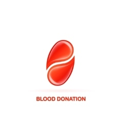 blood donation logo vector image vector image