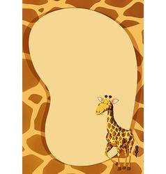 Border design with giraffe vector image