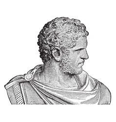 Bust of caracalla vintage vector