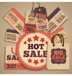 Cardboard sale design concept vector image vector image
