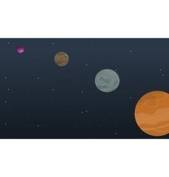 Cartoon space planet collection stock vector