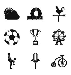 children sports icons set simple style vector image