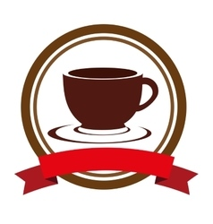 coffee cup drink isolated icon vector image vector image