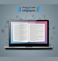 digital gadget notebook book read ebook vector image vector image
