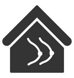 Erotics house flat icon vector