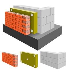 House wall vector